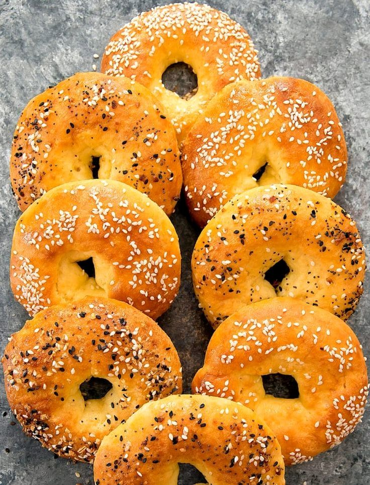 These easy bagels are just 5 ingredients and are low carb