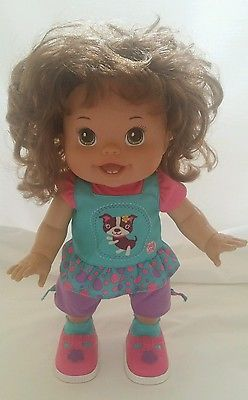 Baby Alive Quot I Wanna Walk Quot 14 Quot Doll 2011 Hasbro Brunett Walking Talking Excellent Baby Alive Dolls Kids Toys