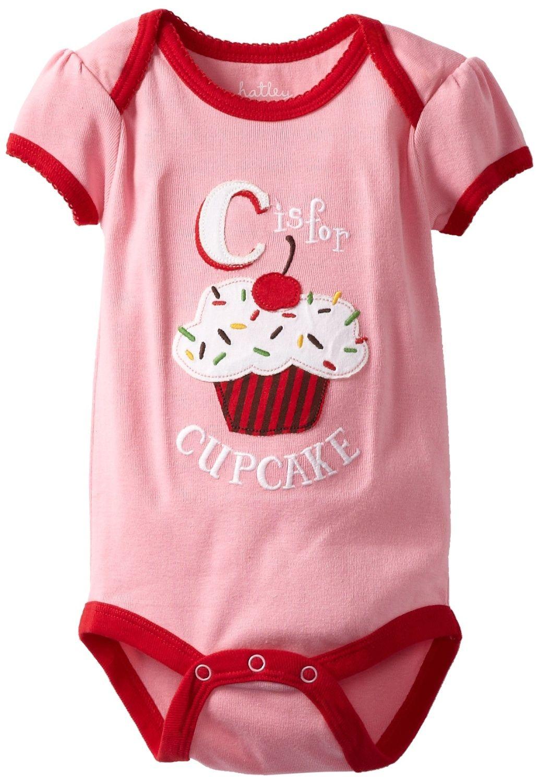 b5a6dc53d8c Hatley Alphabet Girls Printed Baby Girl s Bodysuit Pink 3-6 Months   Amazon.co.uk  Clothing