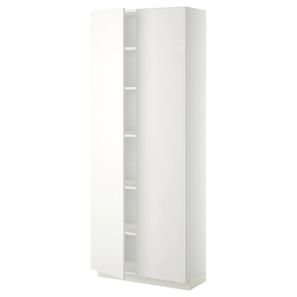 Metod Armoire Avec Tablettes Blanc Haggeby Blanc 80x37x200 Cm Ikea En 2020 Armoire Ikea Ikea Idees Etageres