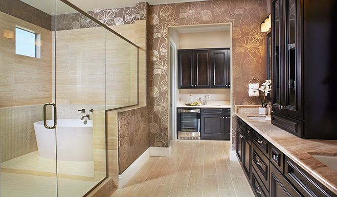 Bathroom Design Richmond this master suite has two walk-in closets accessible from the