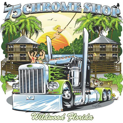 75 Chrome Shop >> 75 Chrome Shop Tshirt Illustration Trucks Truck Art
