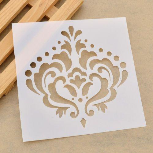 divers motifs pochoirs murales décor dessin modèle fleur feuille
