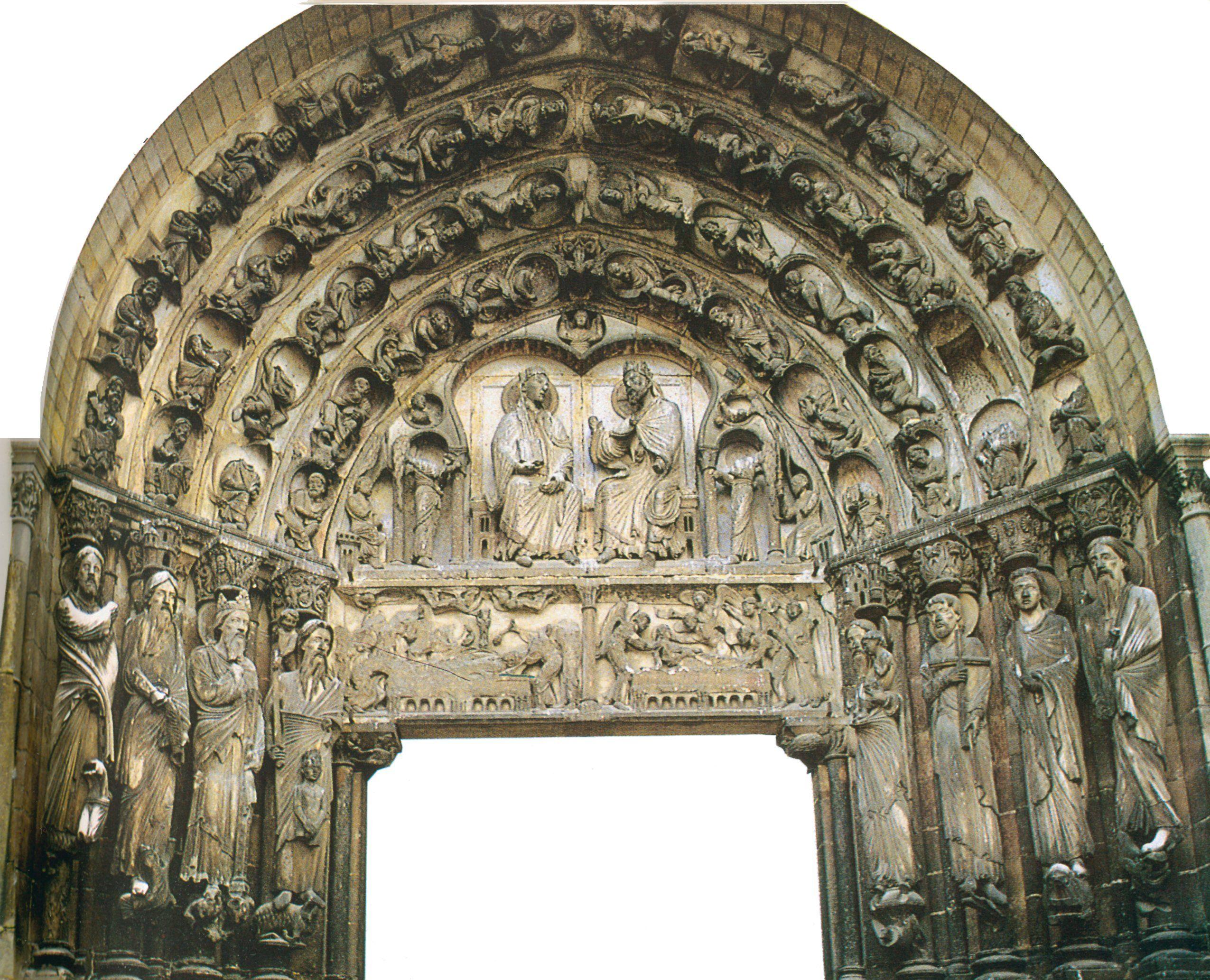 Fachada occidental de Notre-Dame de Senlis (1170). Presenta por ...