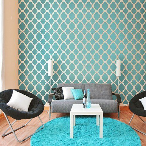 Moroccan Stencil Design Blue Home Decor Home Decor Diy Decor