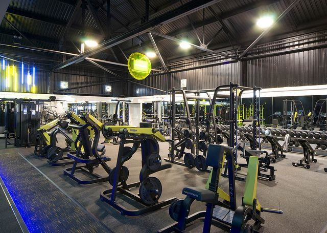 Gym interior and architects