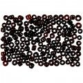 Rocaille Seed Beads, D: 3 mm, hole size 0,6-1,0 mm, white, 25g, size 8/0