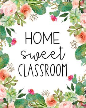 FREE** Classroom Decor - Cactus - Succulents | Classroom ...