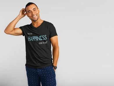 What does happiness mean to you? Fashion tshirt Happiness Custom tee