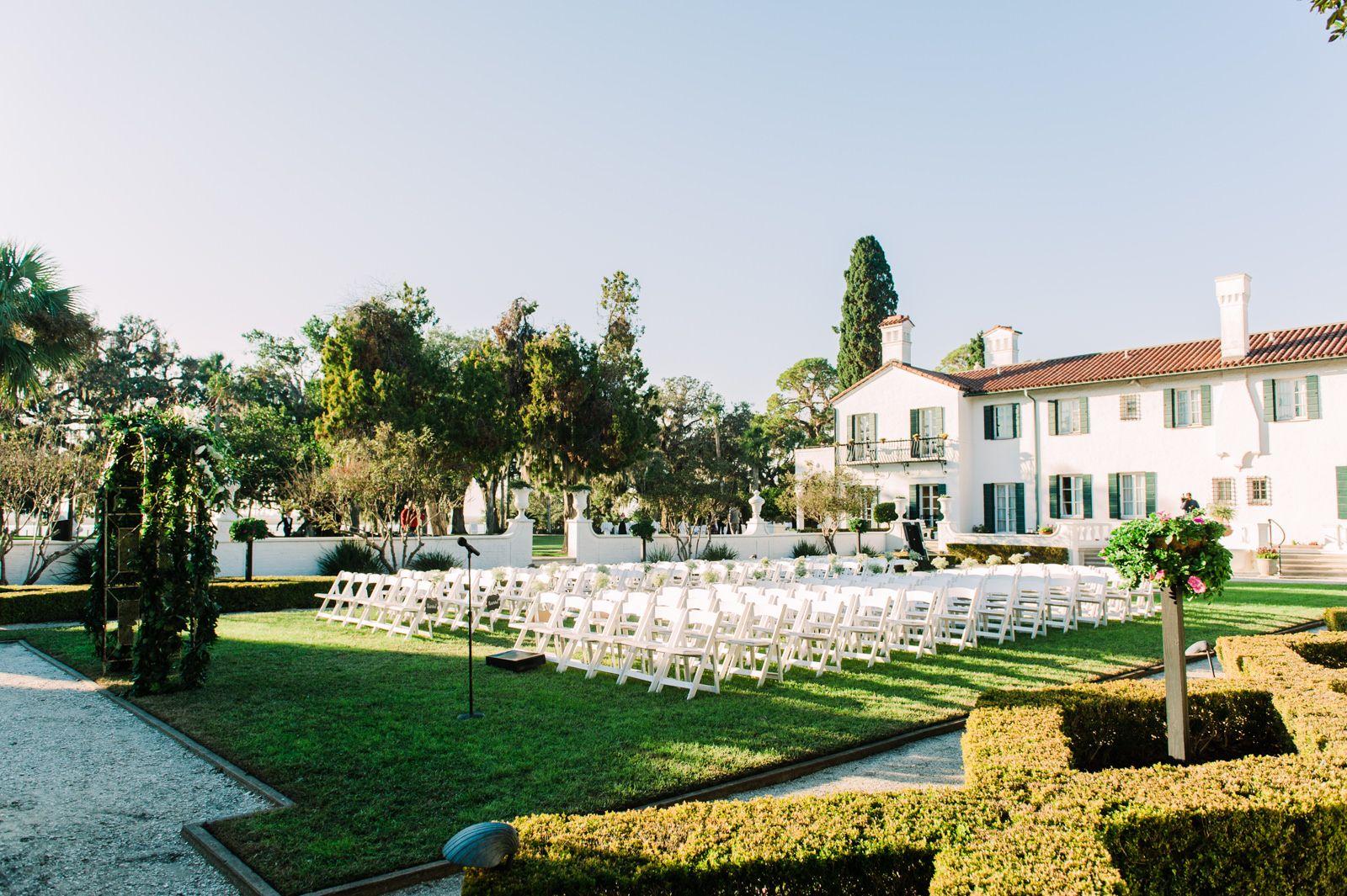 Sunken Garden Ceremony At The Beautiful Crane Cottage Georgia Wedding Tuscany Wedding Venue Cottage Wedding