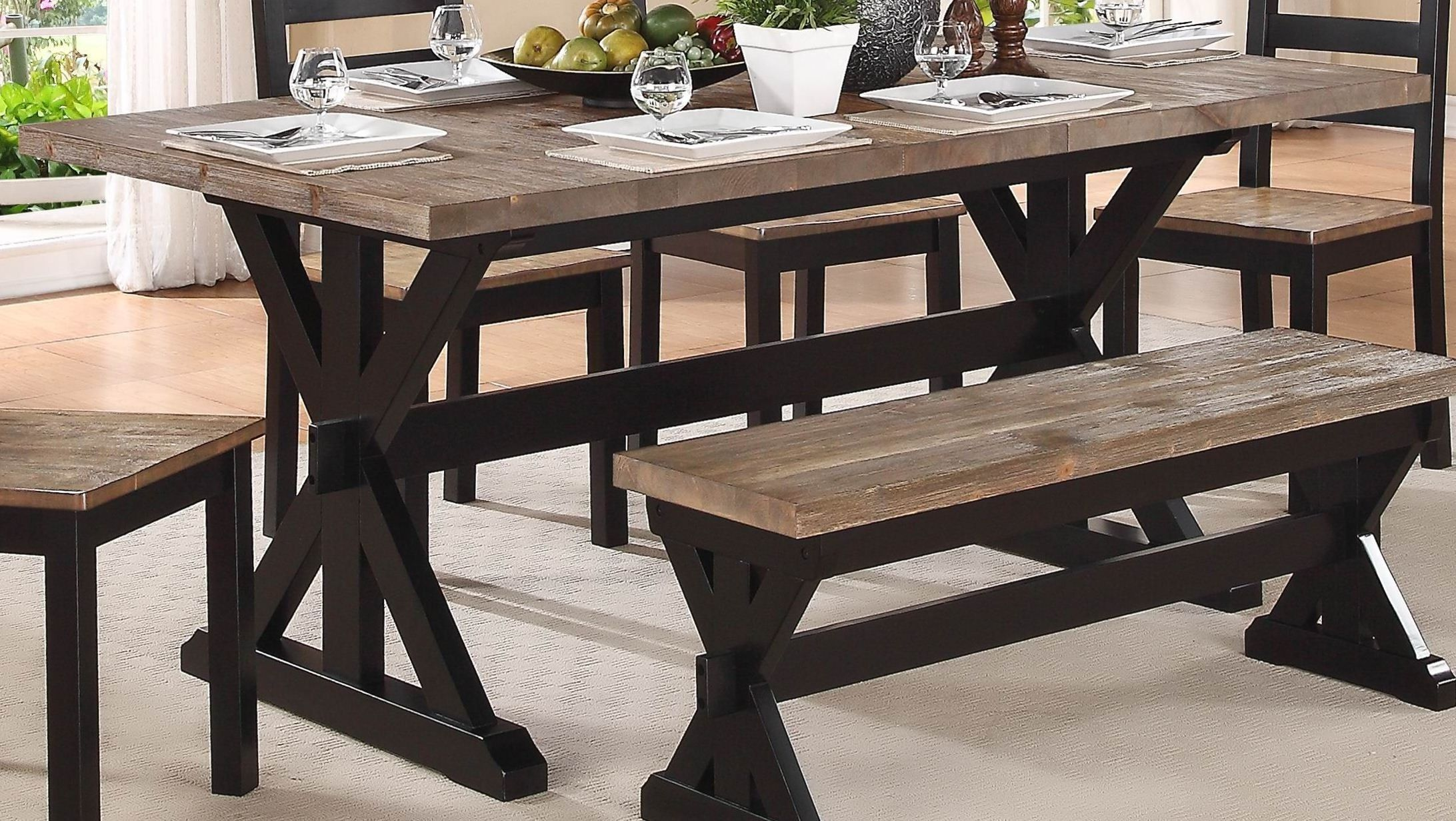 Kitchen table benches  North Port Butterfly Leaf Extendable Dining Table  Home u Kitchen