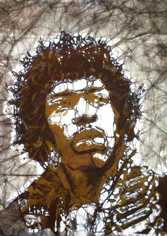 Jimi Hendrix in Brown by Musik Gallery