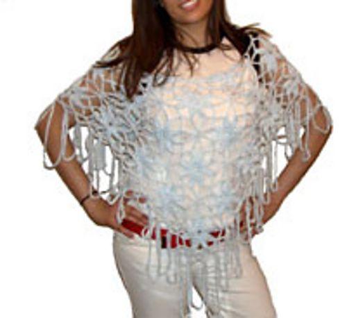 Ravelry: Flower Poncho pattern by Diane Langan - free crochet pattern