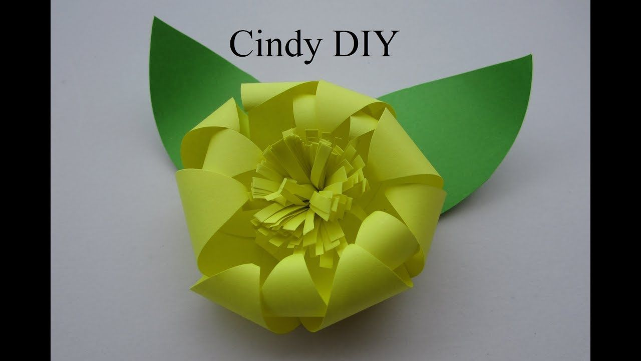 Paper Craft Ideas For Kids Videos Part - 39: Paper Flower Easy Origami Tutorial For Kids | DIY Paper Craft Idea For  Beginner | Cindy