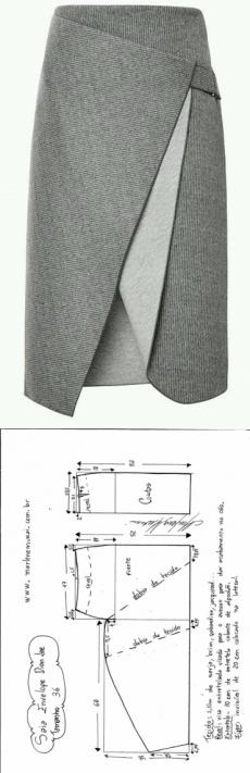 Юбка с креативным запахом (готовые выкройки) / Простые выкройки / ВТОРАЯ УЛИЦА