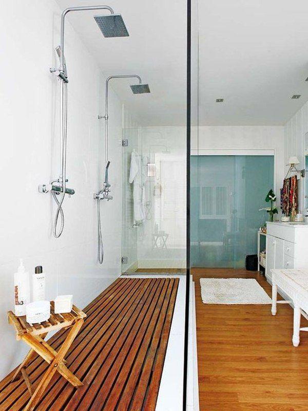 Diferentes mamparas para tu cuarto de baño   Mampara de cristal ...