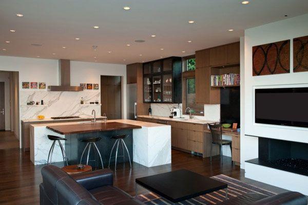 Washington Park Hilltop Residence 11    freshome 2013 03 - wohnzimmer küche zusammen
