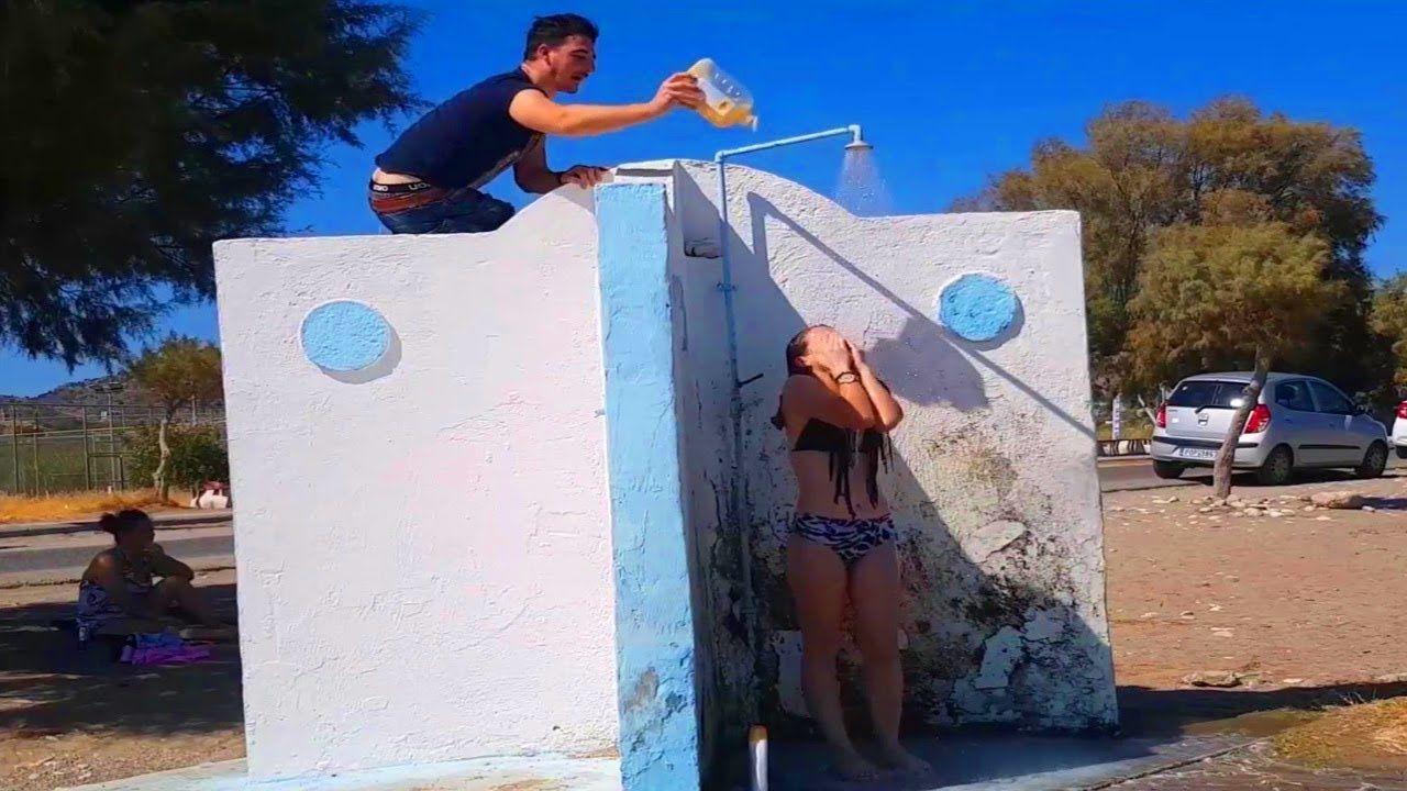 Funny Shampoo Prank on Beach Funny Videos SEMPRUL