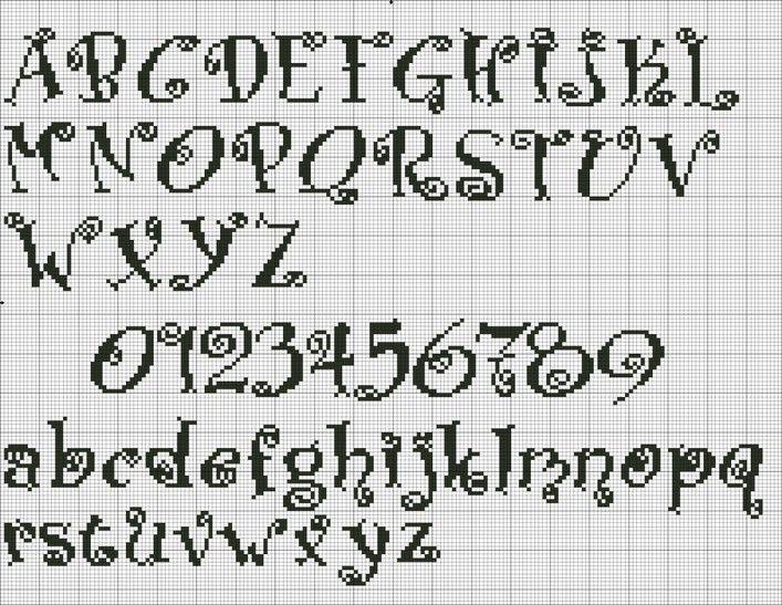 Schemi alfabeti punto croce idee a punto croce schemi for Schemi punto croce alfabeto disney