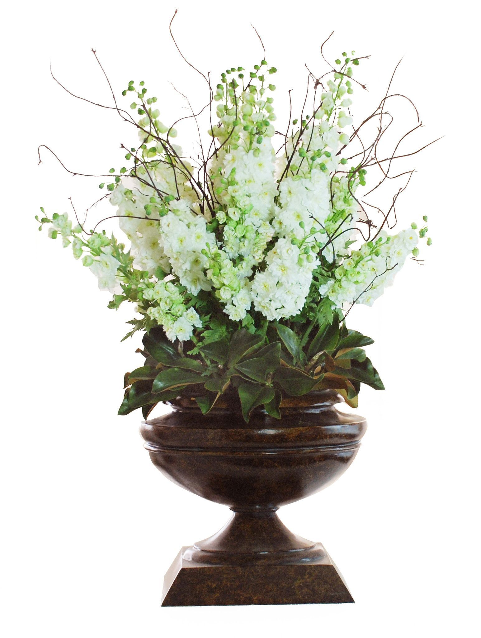 Delphinium In Brown Urn 60h Delphiniums Urn And Products