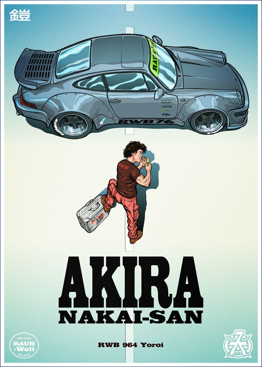 Akira poster - with Nakai-San & RWB 964 Yoroi on Behance
