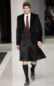 Replanteo de tipologías femeninas: falda masculina.
