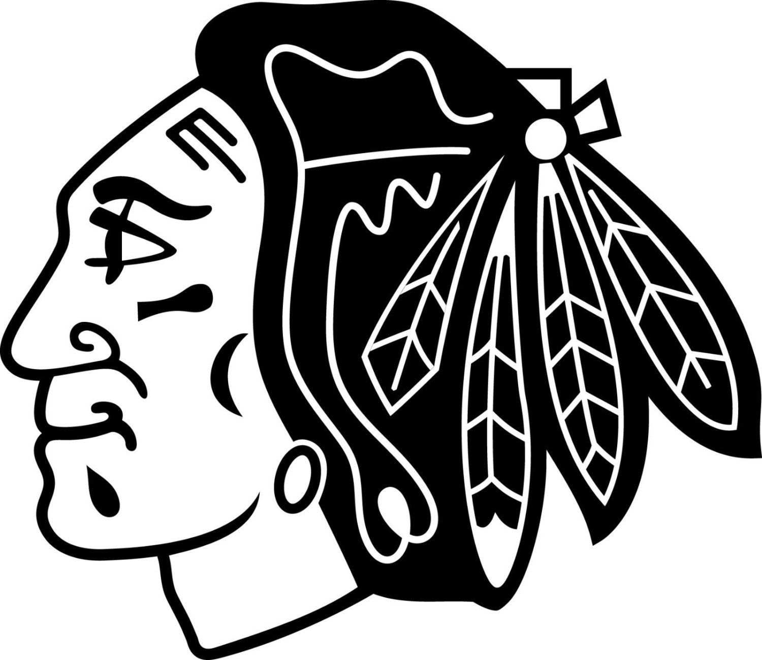 chicago blackhawks logowindow wall decal vinyl car sticker ... - Chicago Blackhawks Coloring Pages