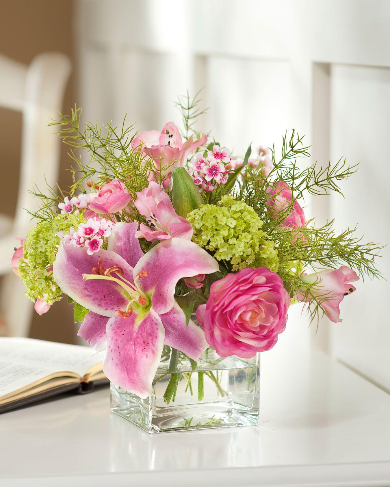 Rubrum Amp Viburnum Silk Flower Arrangement Silk Flowers