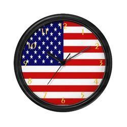 American Flag Patriotic Wall Clock Wall Clock Design American Flag Wall Clock
