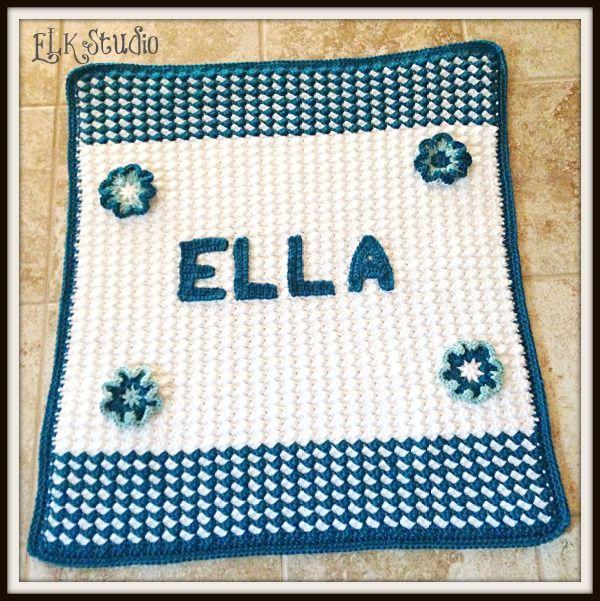Ella\'s Free Crochet Baby Blanket Pattern | Manta, Mantas de bebes y ...