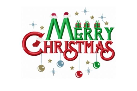 Merry Christmas Creative Fabrica Christmas Words Christmas Embroidery Designs Christmas Embroidery