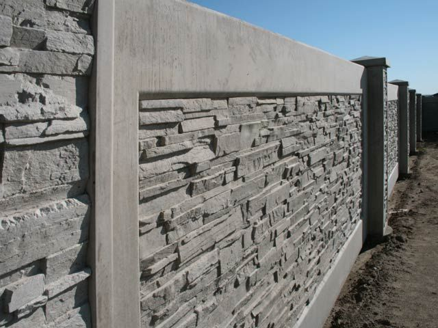 Dry Stack Fence Wall Concrete Fence Concrete Fence