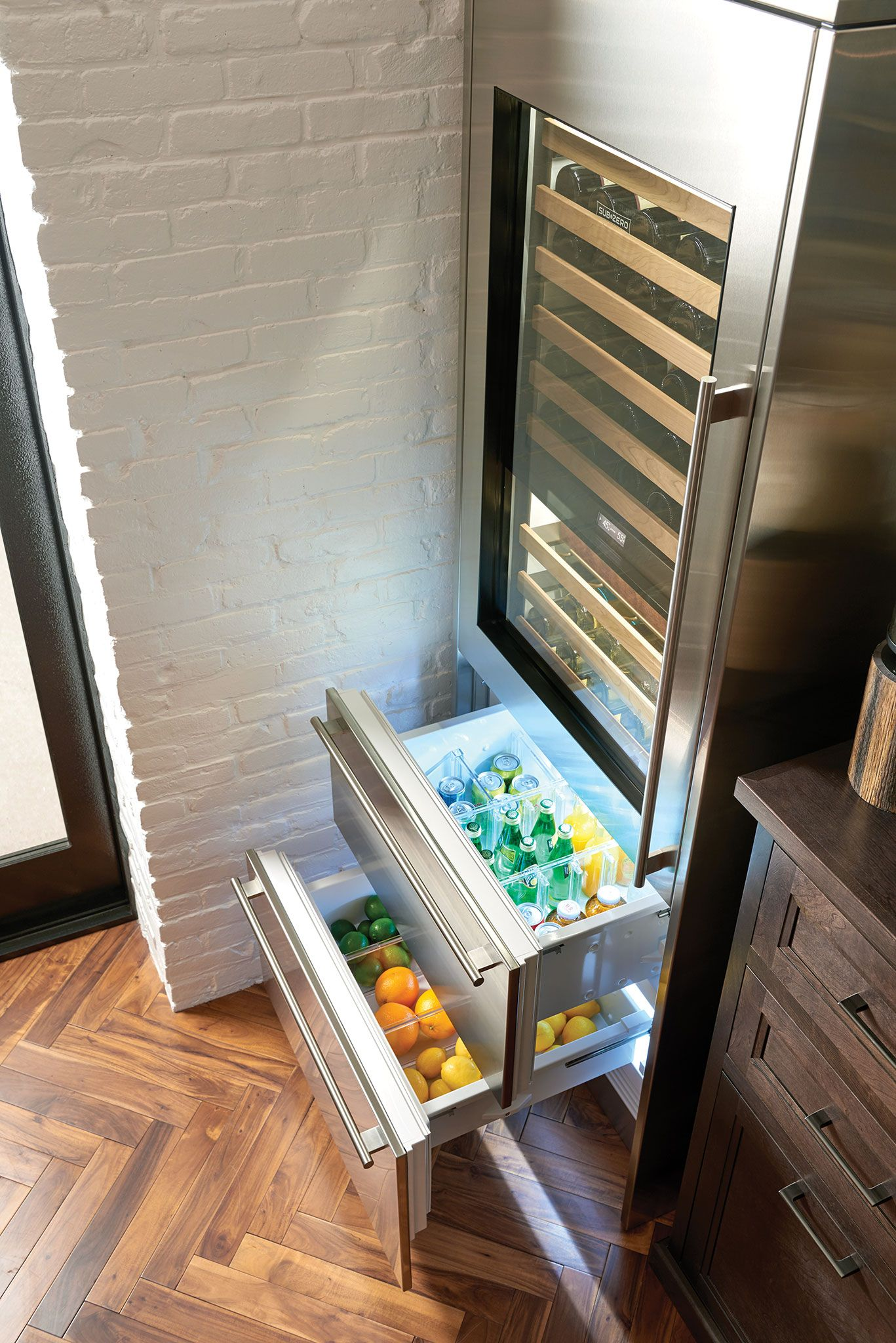Sub Zero 30 Designer Wine Storage Refrigerator Drawers Panel Ready Wine Storage Sub Zero Refrigerator Drawers