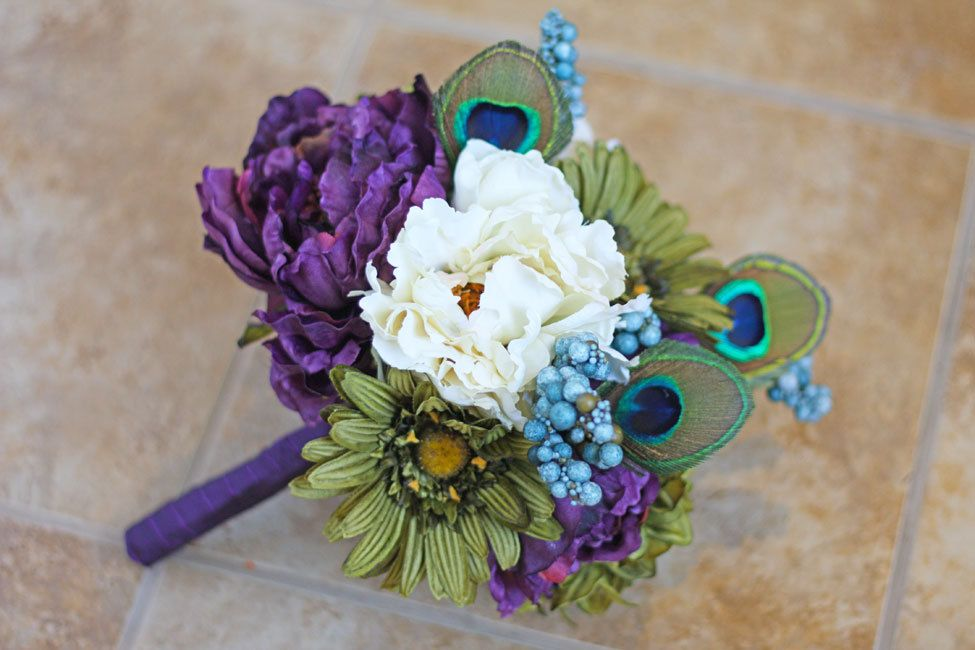 Peacock Wedding Bridesmaid Bouquet  by SouthernGirlWeddings, $45.00