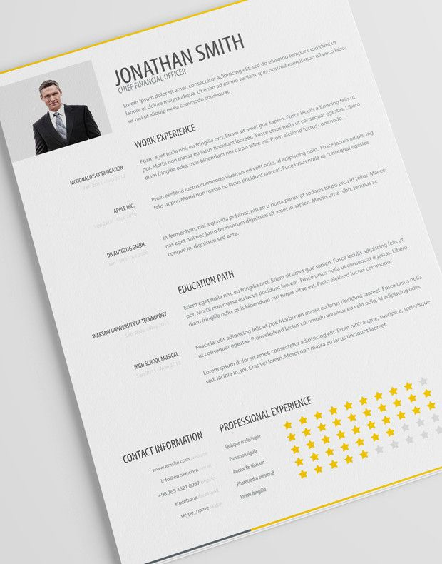 Free Creative Resume Templates For Job Application Psd Pdf