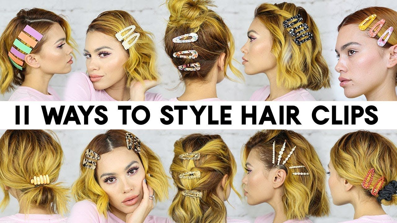 11 Easy Ways To Style Hair Clips For Short Hair Braidless Hair Styles Short Hair Styles Hair Clips