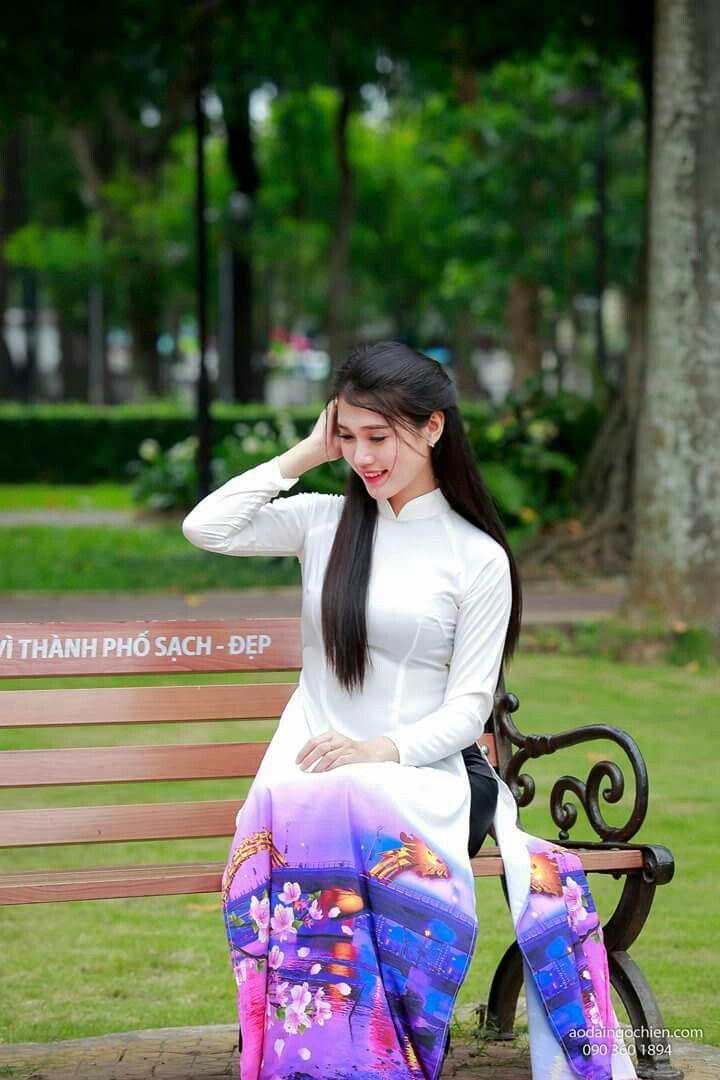 S80916-230013 in 2020   Ao dai, Beauty, White dress