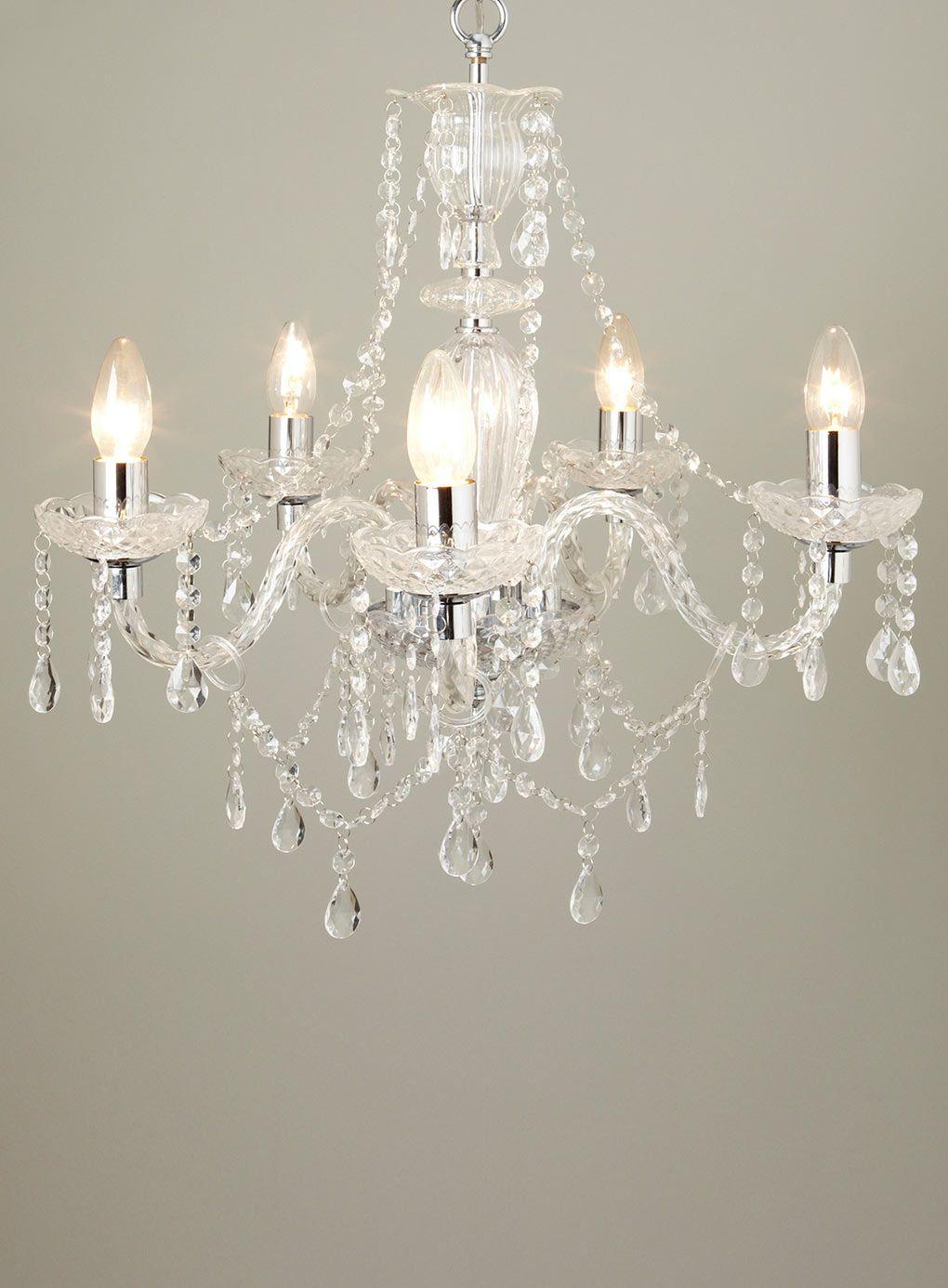 Bryony 5 Light Chandelier Clear