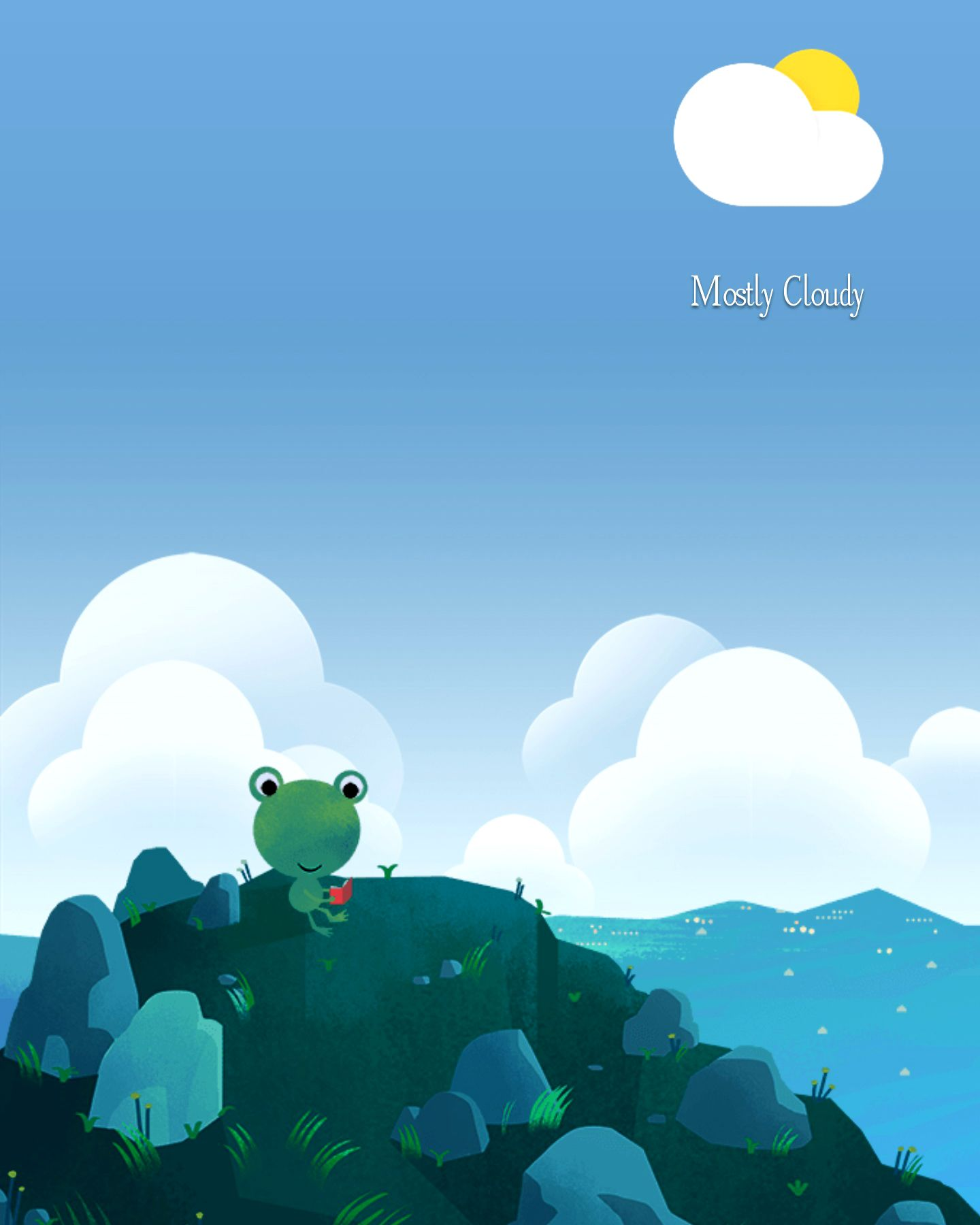 mostly cloudy google weather frog pinterest
