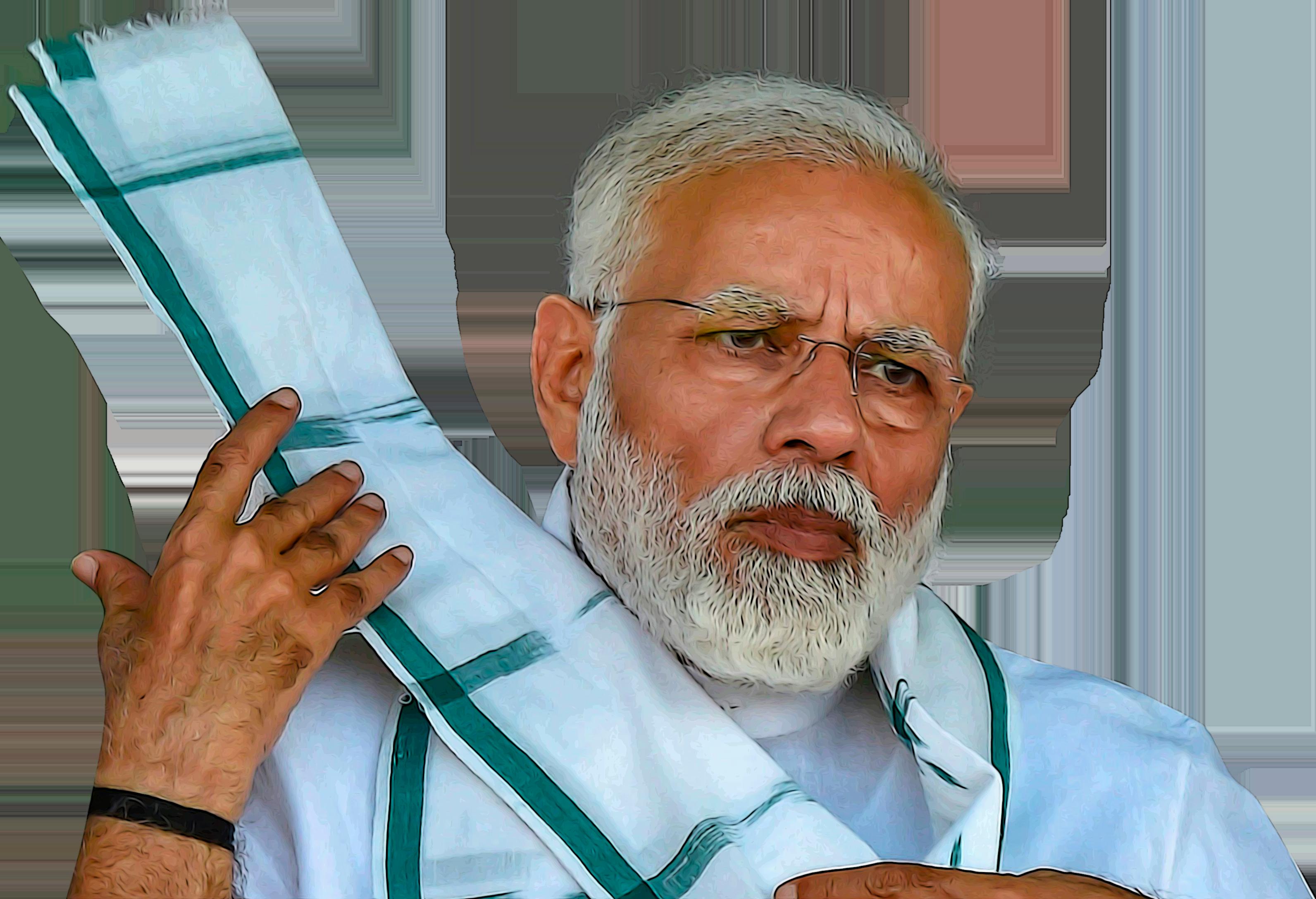 Modi Action Rajnikant Okay Gesture Cutout Thumbs Up
