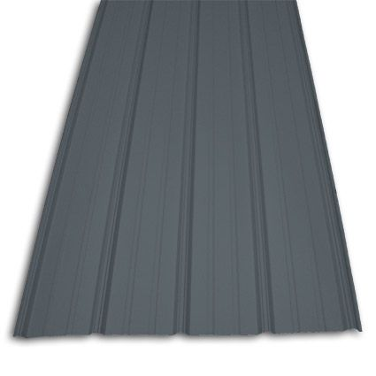 Pro Rib Charcoal Gray Steel Siding Metal Roofing Materials Metal Awning