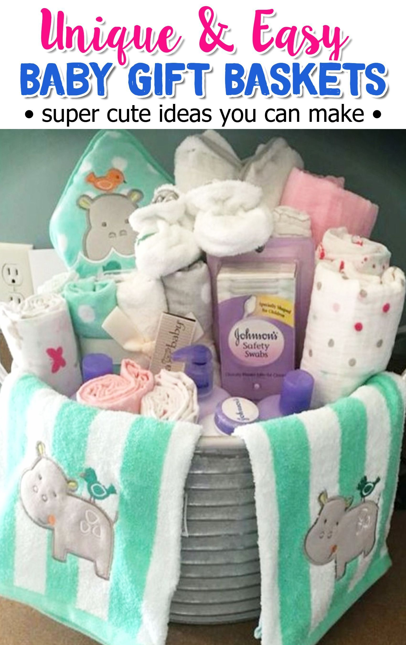 The best do it yourself gifts fun clever and unique diy craft baby gift basket ideas for her baby shower gift these are super cute diy ideas solutioingenieria Image collections