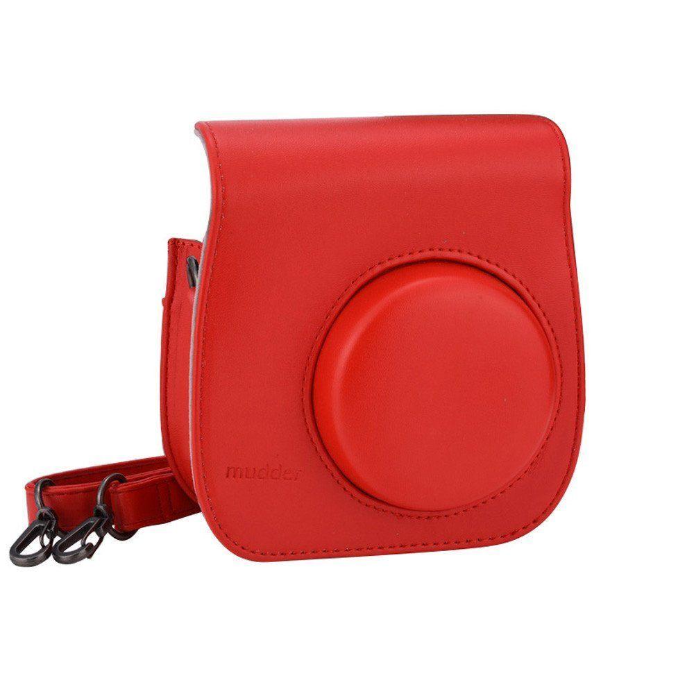 6c9447fa1e58 Mudder PU Leather Protection Camera Case  Shoulder Bag with Pocket for  Fujifilm Instax Mini 8