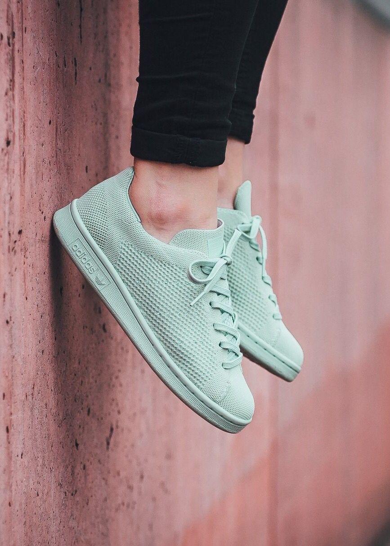 Adidas Originals Stan Smith primeknit: Light menta zapatos