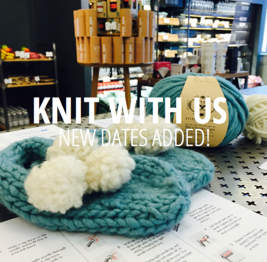 knit with us! All nature yarn and bamboo needles, happy knitting, handmake with love