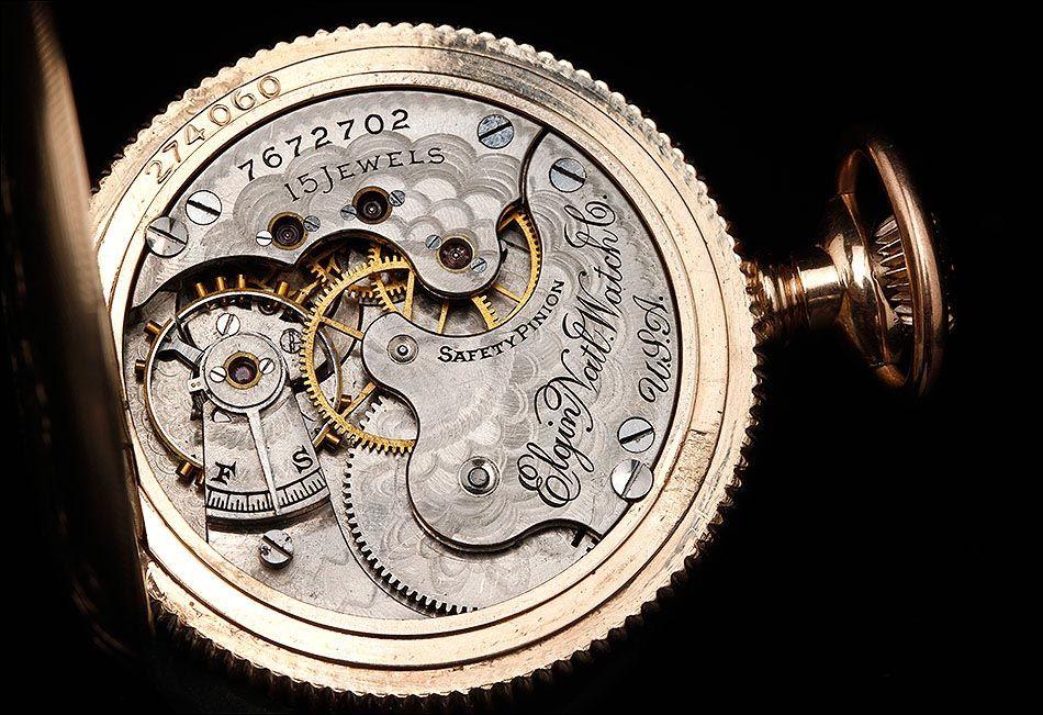 ElginFabricado Bolsillo En Oro Reloj De Bello Marca Chapado 1cKJTlF