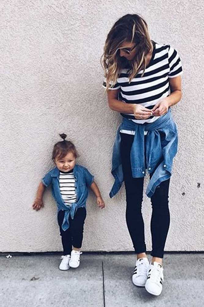 18de9dd2c09bc 42 Cute Mommy And Me Outfits You'll Both Want To Wear | Mommy and ...