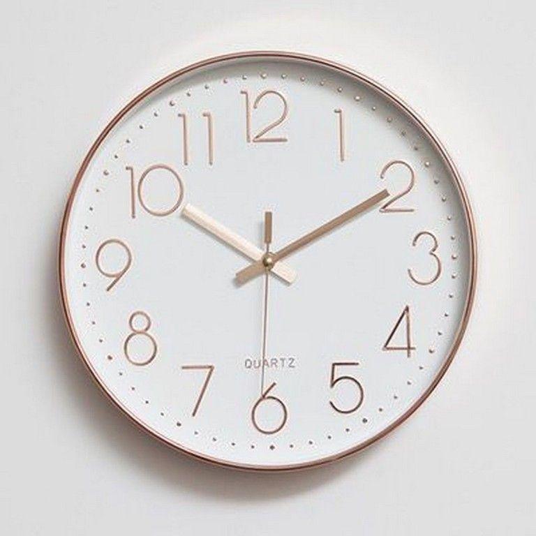 Pin By Vini On Nya Rummet Gold Wall Clock Wall Clock Rose Gold Gold Clock