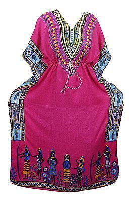 Women/'s Dashiki African Caftan Dress Hippie Boho House Outfit  Gown Free size