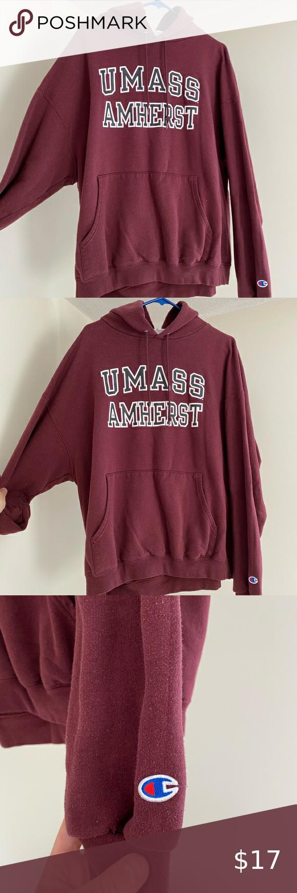 Umass Amherst Hoodie Hoodies Sweatshirt Shirt Champion Shirts [ 1740 x 580 Pixel ]